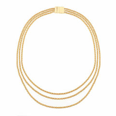 Monet Jewelry Womens Goldtone Three Row Collar Necklace
