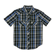 Chalc® Short-Sleeve Button-Front Plaid Poplin Shirt - Boys