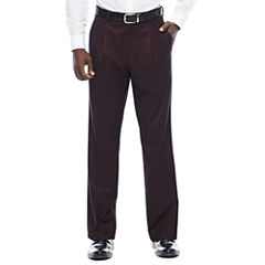 Steve Harvey® Merlot Pleated Pants