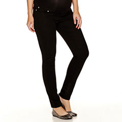 Planet Motherhood Overbelly Colored Skinny Jeans-Maternity