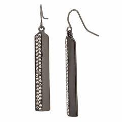 Worthington Line Half Pave Hem Earrings