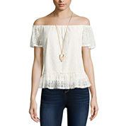 Self Esteem Short Sleeve Round Neck T-Shirt-Juniors