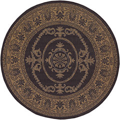 Couristan® Antique Medallion Indoor/Outdoor Round Rug