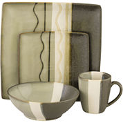 Sango Zanzibar 16-pc. Reactive Glaze Square Dinnerware Set
