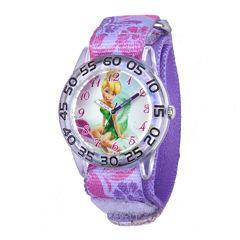 Disney Tinker Bell Kids Multicolor Printed Nylon Strap Watch