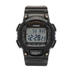Casio Table Mens Black Strap Watch-W736h-2av