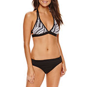 A.N.A Solid Chevron Halter Swimsuit Top or Fold Over Hipster