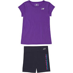 New Balance 2-pc. Short Set Baby Girls