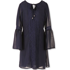 Speechless Chiffon Bellsleeve Blouson Dress