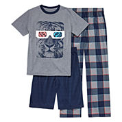 Arizona Boys Short Sleeve Kids Pajama Set-Big Kid