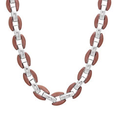 Mens Two-Tone Stainless Steel Necklace