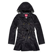 Pink Platinum Hooded Trench Coat - Preschool Girls 4-6x