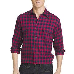 Izod Long-Sleeve Flannel Button-Front Sport Shirt