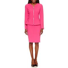 Chelsea Rose Long Sleeve Zip Jacket with Straight Skirt