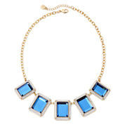 Monet® Frontal Blue Gold-Tone Necklace
