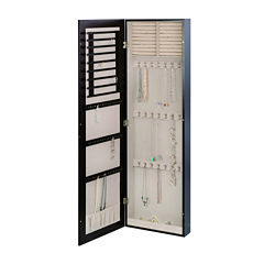 Java Wall Mounted Mirror Jewelry Armoire