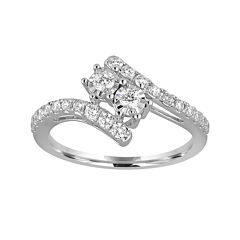 Two Forever™ 1 CT. T.W. Diamond Two-Stone 10K White Gold Ring