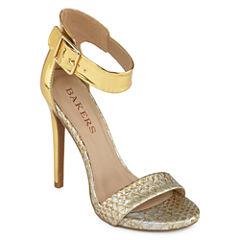 Bakers Molleen Metallic High Heel Ankle-Strap Sandals