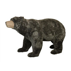 6' Commercial Life-Sized Walking Plush Brown Bear Decoration