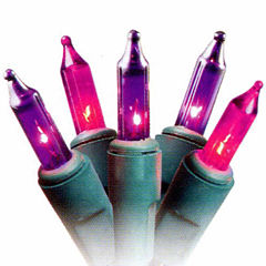 Set Of 50 Pink Purple Princess Mini Christmas Lights 2.5