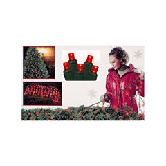 4' X 6' Red Wide Angle LED Net Style Christmas Lights with Green Wire