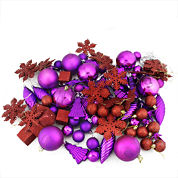 125 Piece Club Pack Of Shatterproof Purple PassionOrnaments