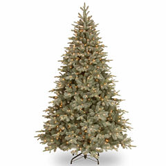 National Tree Co. 7 1/2 Foot Frost Artic Spruce Hinged Pre-Lit Christmas Tree