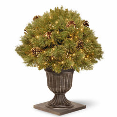 National Tree Co. 2 Foot Glittery Pine Gold Porch Pre-Lit Christmas Tree