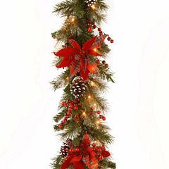 National Tree Co. Tartan Plaid Christmas Garland