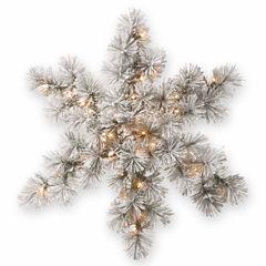 National Tree Co. Bristle Pine Snowflake Holiday Yard Art