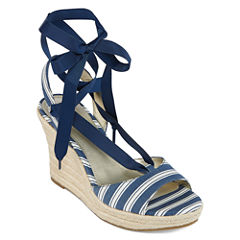 a.n.a Mercury Womens Wedge Sandals
