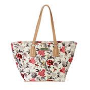 Waverly Bird Floral Large Tote Bag