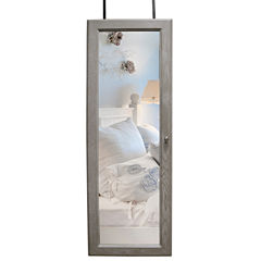 Gray Over the Door Jewelry Armoire