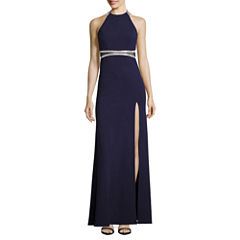 My Michelle Sleeveless Embellished Fitted Gown-Juniors