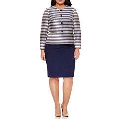 Isabella Long Sleeve 2-pc. Skirt Set-Plus