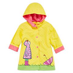 Wippette Girls Dot Raincoat-Toddler