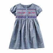 Oshkosh Short Sleeve Babydoll Dress - Toddler