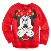 Disney Minnie Mouse Long Sleeve Sweatshirt - Big Kid Girls