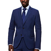 JF Stretch Texture Med Blue Jacket- Slim Fit