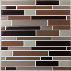 Magic Gel Beige 9.125x9.125 Self Adhesive Vinyl Wall Tile - 6 Tiles/20.82 Sq Ft.
