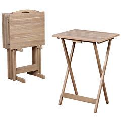 Acacia 5-pc. TV Tray Table