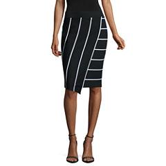Belle + Sky Faux Wrap Skirt