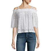 i jeans by Buffalo Lace Off Shoulder Top