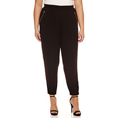 Boutique + Knit Track Pants-Plus