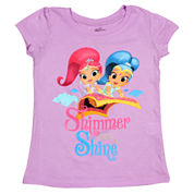 Shimmer And Shine Girls Graphic T-Shirt-Toddler
