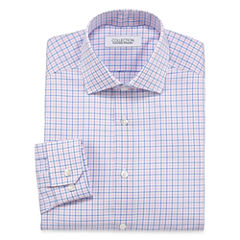 Collection By Michael Strahan Blue Pink Tattersall Dress Shirt