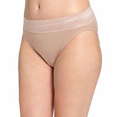 Warner's No Pinches Hi-Cut Lace Brief Cotton - RT2091P
