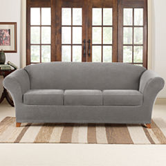 SURE FIT® Stretch Piqué 3 Seat Individual Cushion Sofa Covers
