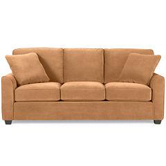 Fabric Possibilities Sharkfin-Arm Queen Sleeper Sofa