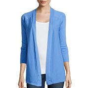 St. John's Bay® 3/4 Length Sleeve Flyaway Cardigan Sweater